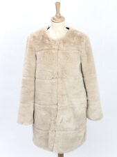 Zara Womens Mink Faux Fur Coat Size S (Uk 8-10)