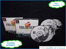 Final Fantasy VIII (8) PS1 black label with manual + FREE Final fantasy figure