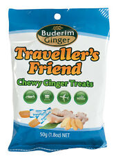 50g Buderim Ginger Traveller's Friend Chewy Ginger Treats Travel Candy Snack