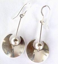 Vintage STERLING Silver Dangling Hook Earrings