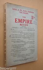THE EMPIRE REVIEW. 1923. SCARCE TOPICAL MONTHLY JOURNAL. MONKEY GLAND ISSUE.
