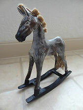 Wooden rocking horse, French shabby chic - beautiful gift, high 37 cm