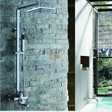 Luxury Wall Mounted Chrome Finish Shower Faucet Showre Column With Hand Shower