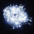 Neu 100 200 300 400 500 LEDs Weiß LED Lichterkette Weihnachten Kette Leuchte