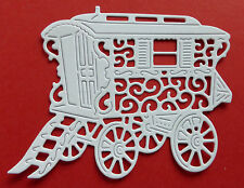 8 Tattered Lace 'Gypsy Caravan' die-cuts on 300gsm white card