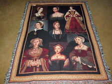 Tudor Traditions ~ House of Tudor Welsh & English Origin Tapestry Afghan Throw