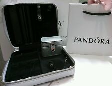 New Authentic Silver Color Pandora Travel Jewelry Box.Jewelry no included
