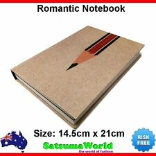 Journal Diary Girls Notebook Cahier Hard Cover Book Pen Fashion Style New