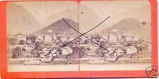19586/ Stereofoto 9x17,5cm, F. Charnaux, Interlaken und Jungfrau, ca. 1870