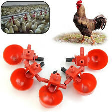 5Pcs Bird Coop Feed Automatic Poultry Water Drinking Cups Chicken Fowl Drinker #