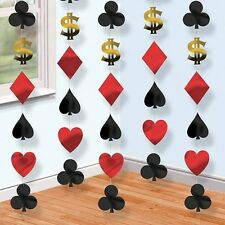 Lot de 6 7ft las vegas casino poker thème Décorations-Costume Party cordes carte