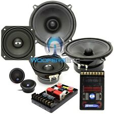 "CDT AUDIO CL-E542 5.25"" 4"" SILK TWEETERS 3-WAY CROSSOVERS COMPONENT SPEAKERS NEW"