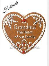 Hallmark Keepsake Grandma Gingerbread Heart Christmas Tree Ornament - 2016