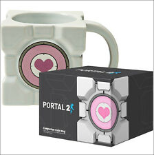 Valve Portal 2 Companion Cube Ceramic Coffee Mug Cup OFFICIAL LICENSED New