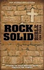 Rock Solid Faith Study Bible for Teens : Build and Defend Your Faith Based on...