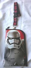 Star Wars Stormtrooper The Force Awakens Lanyard  ID Pouch Holder Zipper Wallet