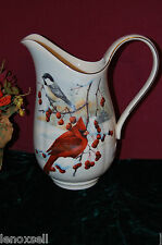 Lenox Winter Greetings Scenic Pitcher Large New USA