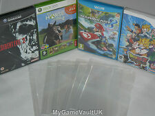 15 x Nintendo Gamecube Wii/U Game Box Protectors 0.4mm PET Plastic Case SNUG FIT