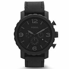 NEW Fossil Nate Chronograph Black Ion-plated Mens Watch JR1354