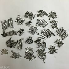 448Qty Kawasaki GTO 125 1990on STAINLESS ENGINE FRAME ALLEN BOLTS + EXTRAS