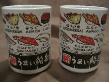 Japanese Sushi Tea Cup Set of Two Ceramic