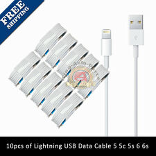 10x 8 Pin USB Charger Cord Sync Data Cable for iPhone 5 5S C 6 3FT Wholesale Lot