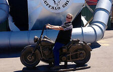 FULL SIZE Epic Cast-Stone MOTORCYCLE Replica,Harley,Outdoor, Decor,Sturgis, Gift