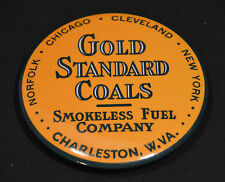 GOLD STANDARD COALS SMOKELESS FUEL COMPANY CHARLESTON WV PAPERWEIGHT AND MIRROR