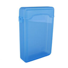 "Quality 3.5"" Plastic SATA HDD IDE Hard drive Storage Enclosure Box Case Blue HF"
