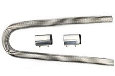 "Universal 48"" Stainless Steel Radiator Flexible Coolant Water Hose Kit With Cap"