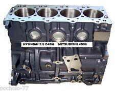 BLOQUE MOTOR COMPLETO CON CIGUEÑAL PARA HYUNDAI 2.5 DIESE D4BH Y MITSUBISHI 4D56