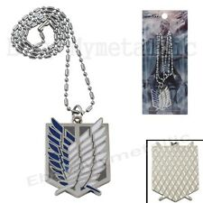 Attack On Titan The Scouting Legion Badge Metal Pendant Necklace Cosplay
