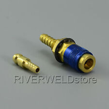 Gas & Water Quick Connector Fitting Hose Connector Fit Tig Welding Torch