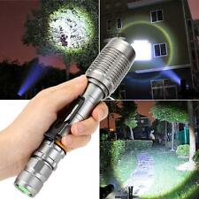 Argent 10000lm  CREE XML-T6 LED Zoomable torche Lampe DC