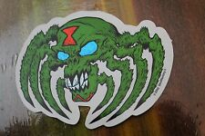 Black Widow Skull Spider - Skateboard Pushead Zorlac 3in. Vinyl Sticker