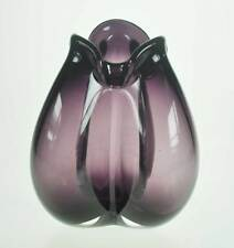 ausgefallene HOLMEGAARD Vase - Per Lütken 70er Studioglas signiert nummeriert