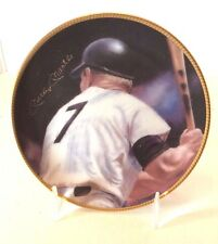 Mickey Mantle Sports Impressions Plate 1991 Members Only Facsimile Autograph