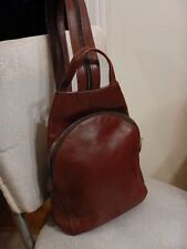 Vintage Ladies Leather Handbag/Backpack  Color: Chestnut