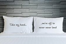 Pillowcase Peter Pan Quote Neverland Child's Bedroom Pillow Cover Bedding WSD840