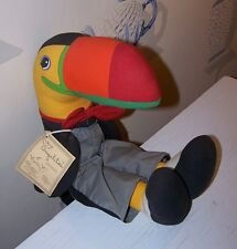 Signed Special Edit. Handmade Angelitos Original Soft Sculpture ColorfulToucan