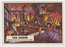 1962 TOPPS CIVIL WAR NEWS CARD #70 THE SNIPER