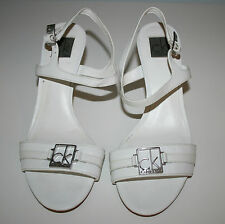 Calvin Klein White Mid Heel Shoes - Size 38.5 (UK 5.5)