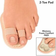 Toe Alignment Comfort Pads with Memory Foam Double Loop