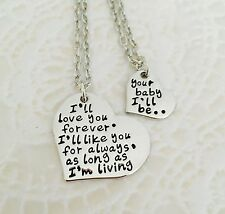 Ill love you forever I Like You For Always Your baby I'll  Be Necklace Set
