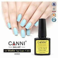 MATTE TOP COAT DULL FINISH SOAK OFF CANNI UV LED GEL NAILS POLISH 7.3ml