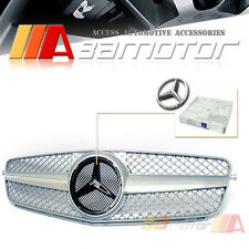 FRONT SPORT GRILLE GRILL SILVER for 2008-2014 MERCEDES-BENZ W204 C-CLASS SEDAN