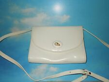 CRISTIAN WHITE GENUINE LEATHER CROSS BODY MESSENGER ,EVENING BAG  EUC ITALY