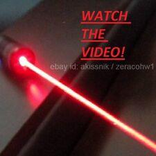 High Power Red Laser Pointer Pen Focusable Beam Light 650nm Wicked Burning Lazer