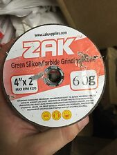 """Green Silicon Carbide Stone Grinding Cup 4""""x2"""" x 80 grit Zak"""