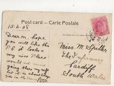 Miss M Spiller The Infirmary Cardiff 1908 281b